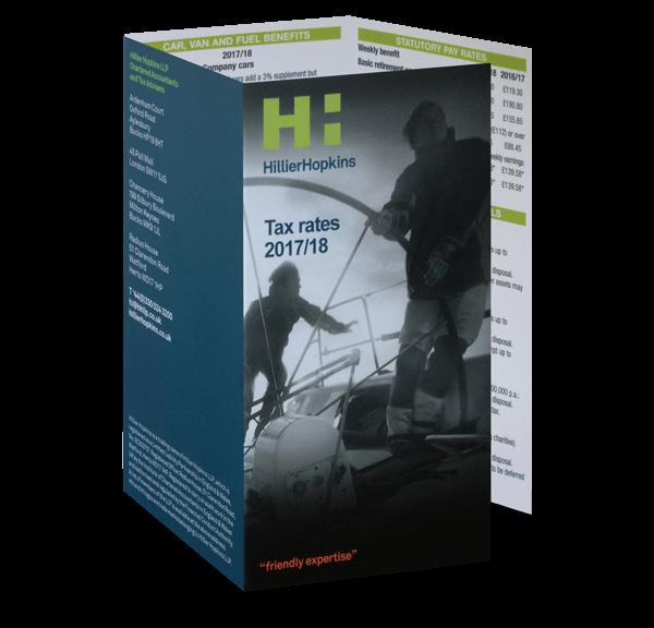 Hillier Hopkins Tax Card